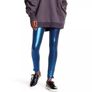 NWT Free People Shiny Blue Leggings